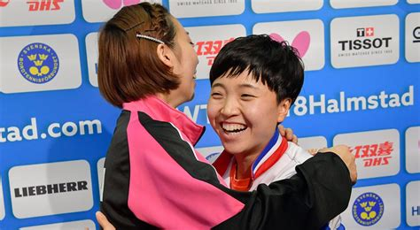 North and South Korea combine teams at table tennis worlds