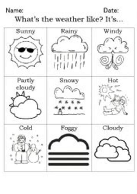 Weather pictionary - ESL worksheet by Lady Tragedy