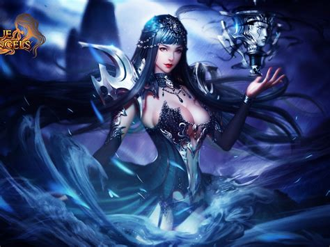 League Of Angels Popular Game Angel Of The Night Nyx Hero