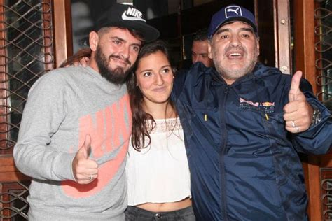 """Diego Maradona """"very happy"""" after being reunited with son"""
