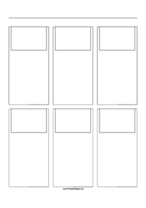 Printable Storyboard with 3x2 grid of 3:2 (35mm photo