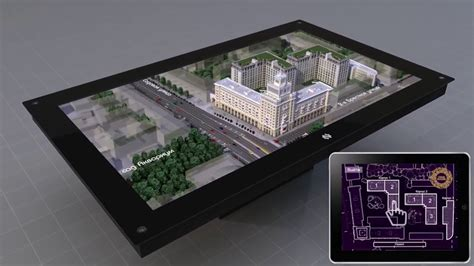 Presentation of 3D Holographic Table - Nettlebox in