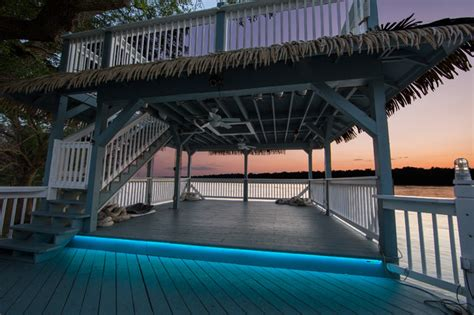 LED Outdoor Patio Lighting - Tropical - Deck - st louis