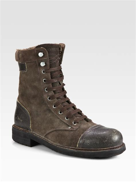 Lyst - Diesel Butch Cassidy Laceup Boot in Brown for Men