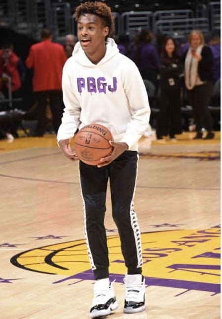 Bronny James Height Weight Shoe Size Body Measurements